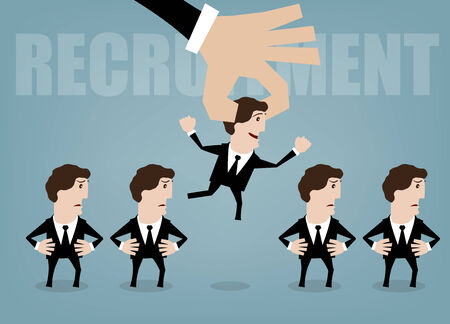 executive search: vector illustration concepts for human resources management Illustration