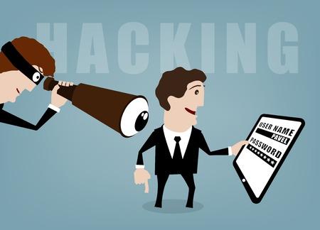 spyware: conceptos ilustraci�n vectorial para la gesti�n de recursos humanos Vectores