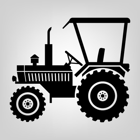 Tractor icon black macro farmer machine Vector