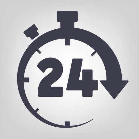 Timer icon black vector time clock simple Vector