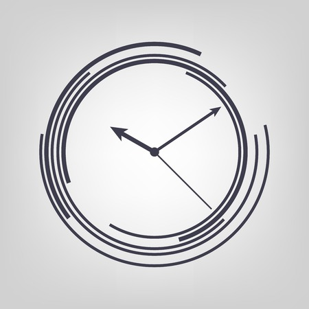 Watch icon black vector time clock simple Фото со стока - 34682019
