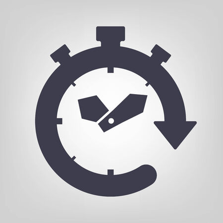 Timer icon black vector time clock simple Ilustrace