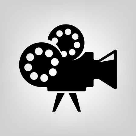 Cinema icon vector black macro camera movie