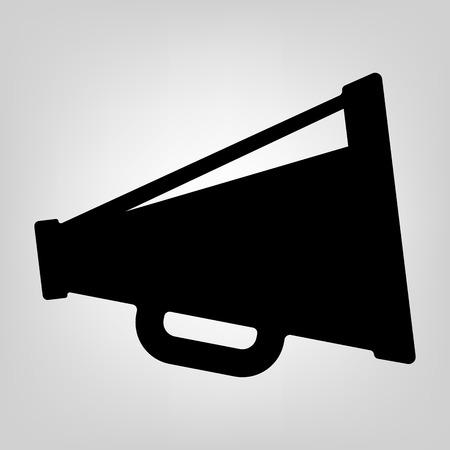 cheer: Cinema icon vector black macro movie speaker