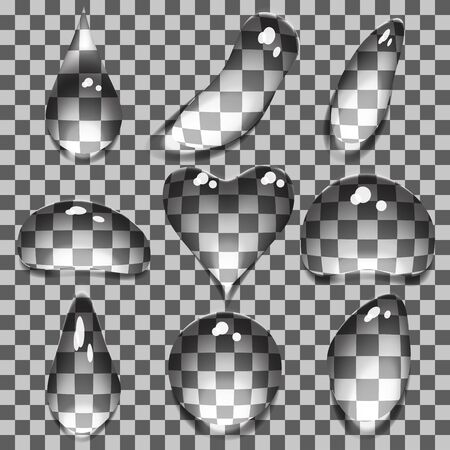 Water clean transparent drops isolated illustration Vector
