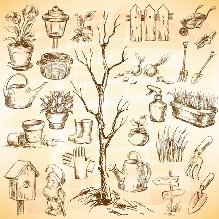 converted: Garden icons set. Sketch converted to vectors.