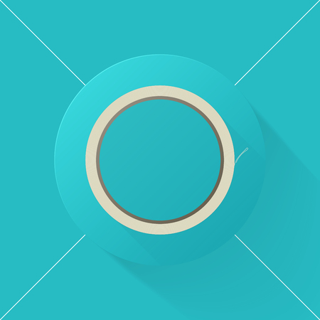 scotch tape: Vector illustration long shadow flat icon of scotch