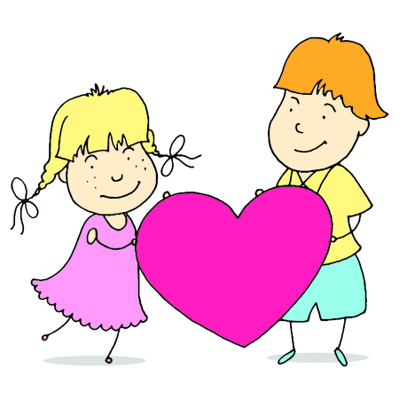 teenage couple: Young couple spends time together. Design for valentines