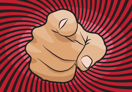i want you: I want you vector hand pointing icon isolated on white background