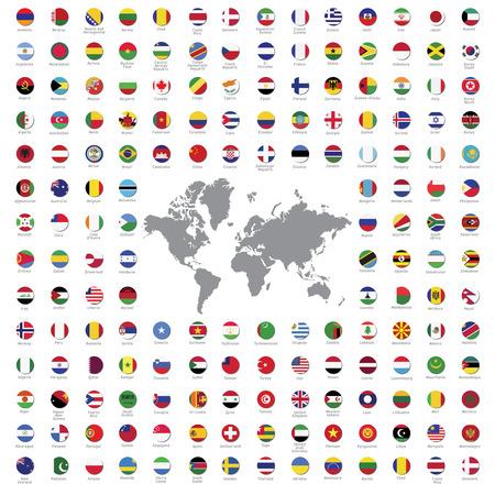 Flaggen der Welt Alle Vektor Farbe offiziellen isoliert Standard-Bild - 45525806