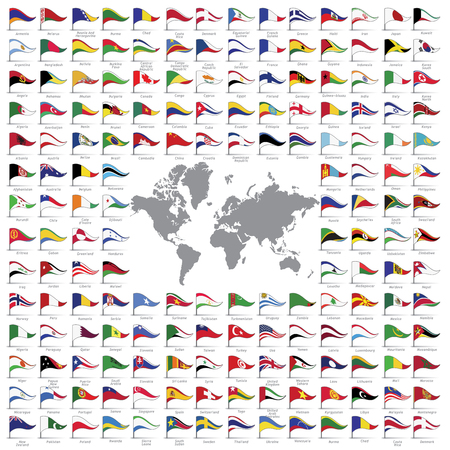 north africa: World flags all vector color official isolated