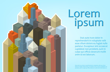 urban style: Banner of urban style vector with houses and skyscrapers Illustration