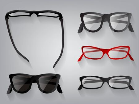 eye wear: Glasses eye wear glasses, vector illustration 3d elegance sunglasses