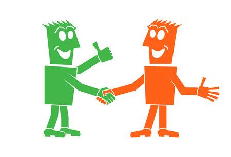 handshake of two people character person people Ilustração