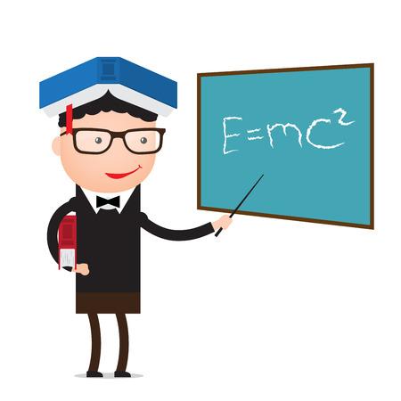 Character - teacher, education concept.