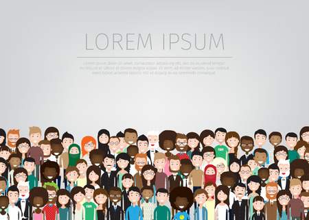 large group of different people background