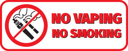 vaporized: no vaping no smoking placard not to smoke