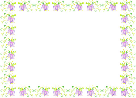 bluebell: Flower bluebell drawing on paper.Floral template