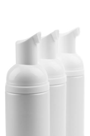 cosmetic bottles isolated photo