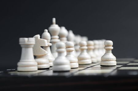 chellange: white wooden chess