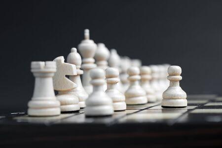 chellange: white wooden chess