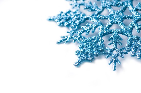 decorative snowflake isolated photo