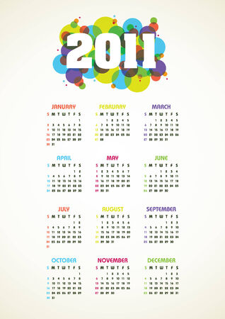 Vertical color calendar for 2011 year Vector