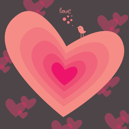 sweet valentines vector card