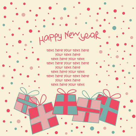 happy new year card Stock Vector - 8119983