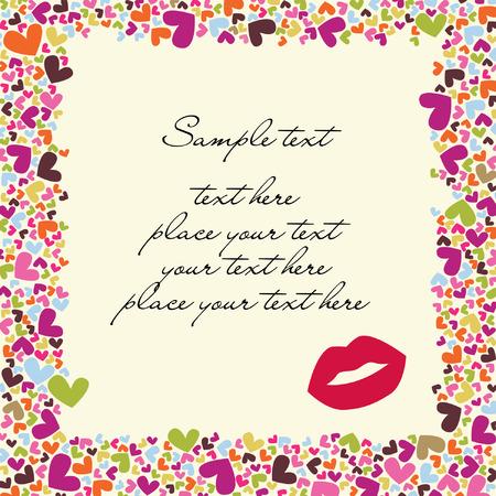 carta de amor: tarjeta de vector de San Valent�n  Vectores