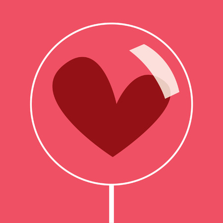 love image: candy-heart.valentines vector card.