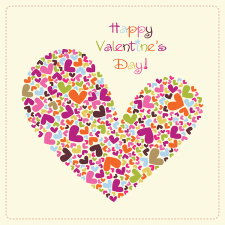 beautiful valentines vector card Illustration