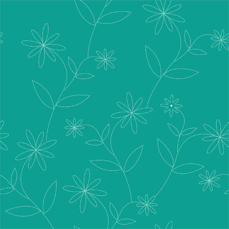 seamless dotty flowers wallpaper Illustration