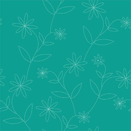 seamless dotty flowers wallpaper Vector