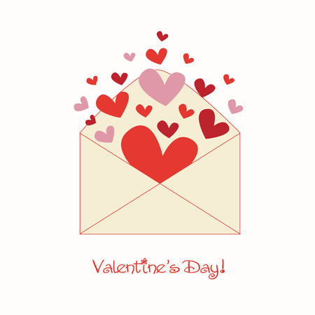 sweet love: sweet valentine letter Illustration