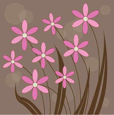 Abstract Flower background Stock Vector - 8119991