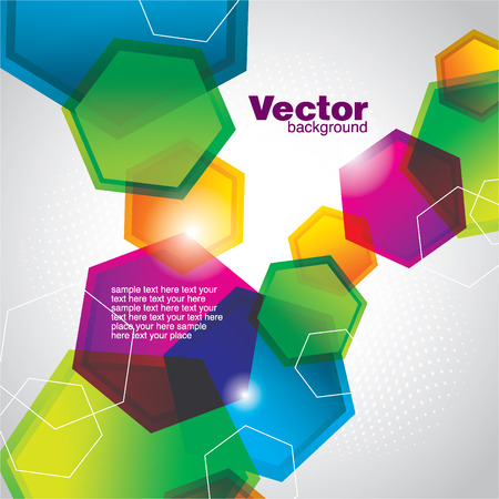 hexagon background: abstract background Illustration