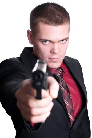 businessman with gun photo