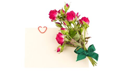 card with roses and decorative heart Stock Photo - 8261631