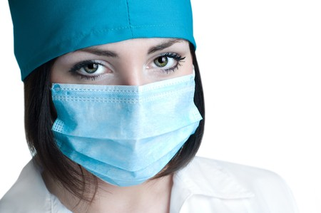 close up portrait of doctor isolated Stock Photo - 8261570