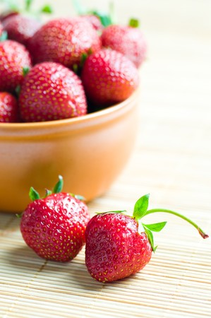 ripe strawberries Stock Photo - 8261681