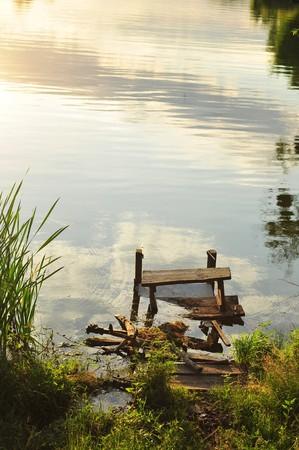 Summer river bank