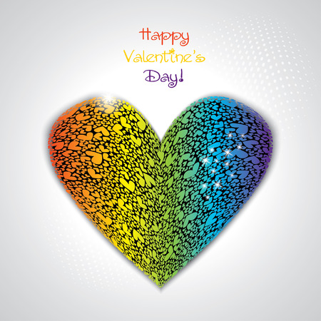 beautifull valentines vector card Vector