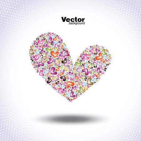 beautiful valentines vector card Illustration