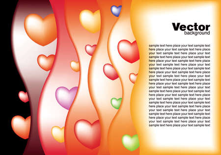valentine's vector card Stock Vector - 8773102