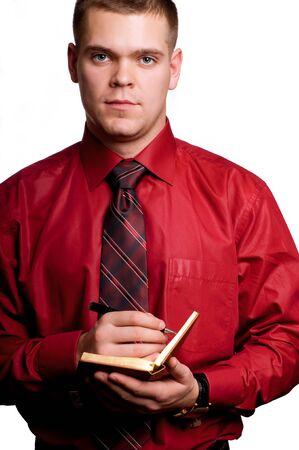 Businessman with  organizer in hands