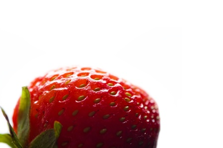 Red strawberry isolated on white Stock Photo - 9862801