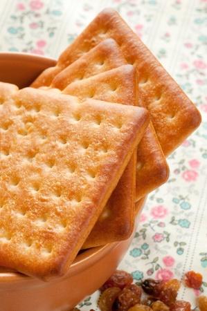 Cookies and raisin Stock Photo