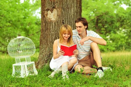 a young couple in love outdoors Stock Photo - 15531562