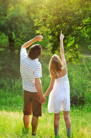 a young couple in love outdoors Stock Photo - 15407851